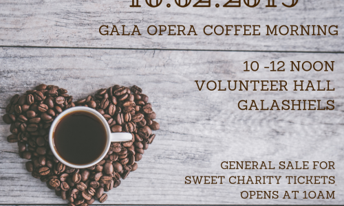 Annual coffee morning & general booking for Sweet Charity tickets